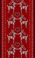 Vallila Olkipukki valmisverho 140x240 cm punainen