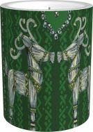 Vallila Olkipukki kynttilä 12 cm vihreä