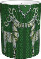 Vallila Olkipukki kynttilä 8 cm vihreä
