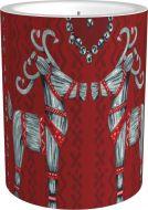 Vallila Olkipukki kynttilä 8 cm punainen