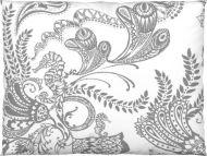 Vallila Syvämeri tyynyliina 50x60 cm valkoinen