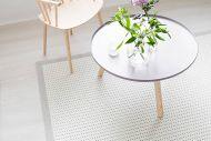 VM-Carpet käytävämatto Valkea 80x200 cm valko/musta