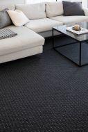 VM-Carpet matto Valkea 133x200 cm musta-harmaa