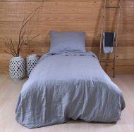 Create Home Pellava pussilakanasetti 150x210+55x65 harmaa