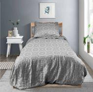 Create Home satiinipussilakanastti Mandala 150x210 + 55x65 cm harmaa