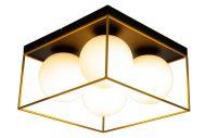 Scan Lamps plafondi Astro 36 cm musta/kulta/opaalivalkoinen
