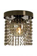 Aneta kylpyhuoneplafondi Claudia IP 44 mustakromi/savulasi kristal