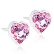 Blomdahl Heart 6mm, Light Rose korvakorut