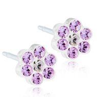 Blomdahl Daisy 5mm, Violet/Crystal korvakorut