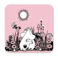 Optodesign lasinalussetti 9x9 cm 4kpl Moomin Hug