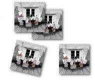 Optodesign lasinalunen 9x9 cm 4kpl Together