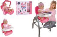 Baby Rose nukke istuimella 3in1