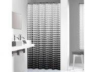 Pisla suihkuverho Speckles tekstiili 180x200 cm musta