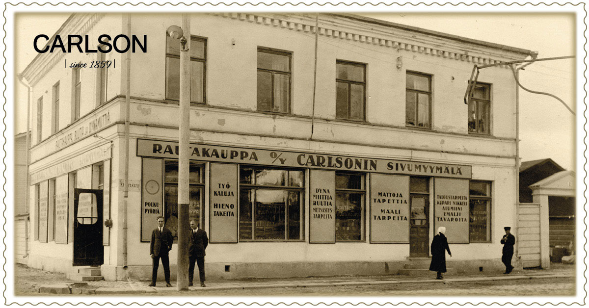 Ala-Carlson Kuopion Kauppakadulla vuonna 1911, nykyinen Sataman Helmi