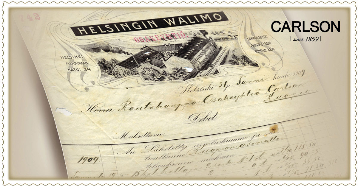 Tilaus 31.1.1909